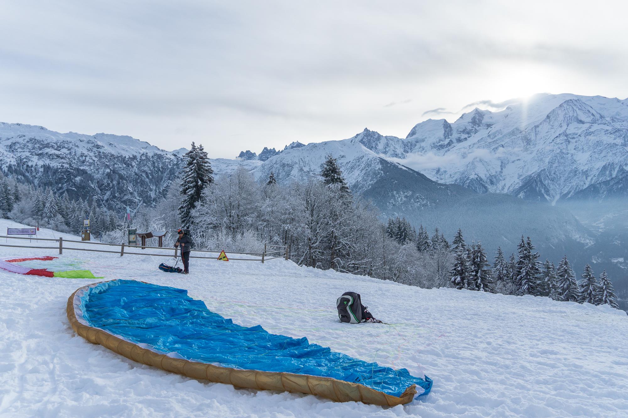 Rando-parapente à ski
